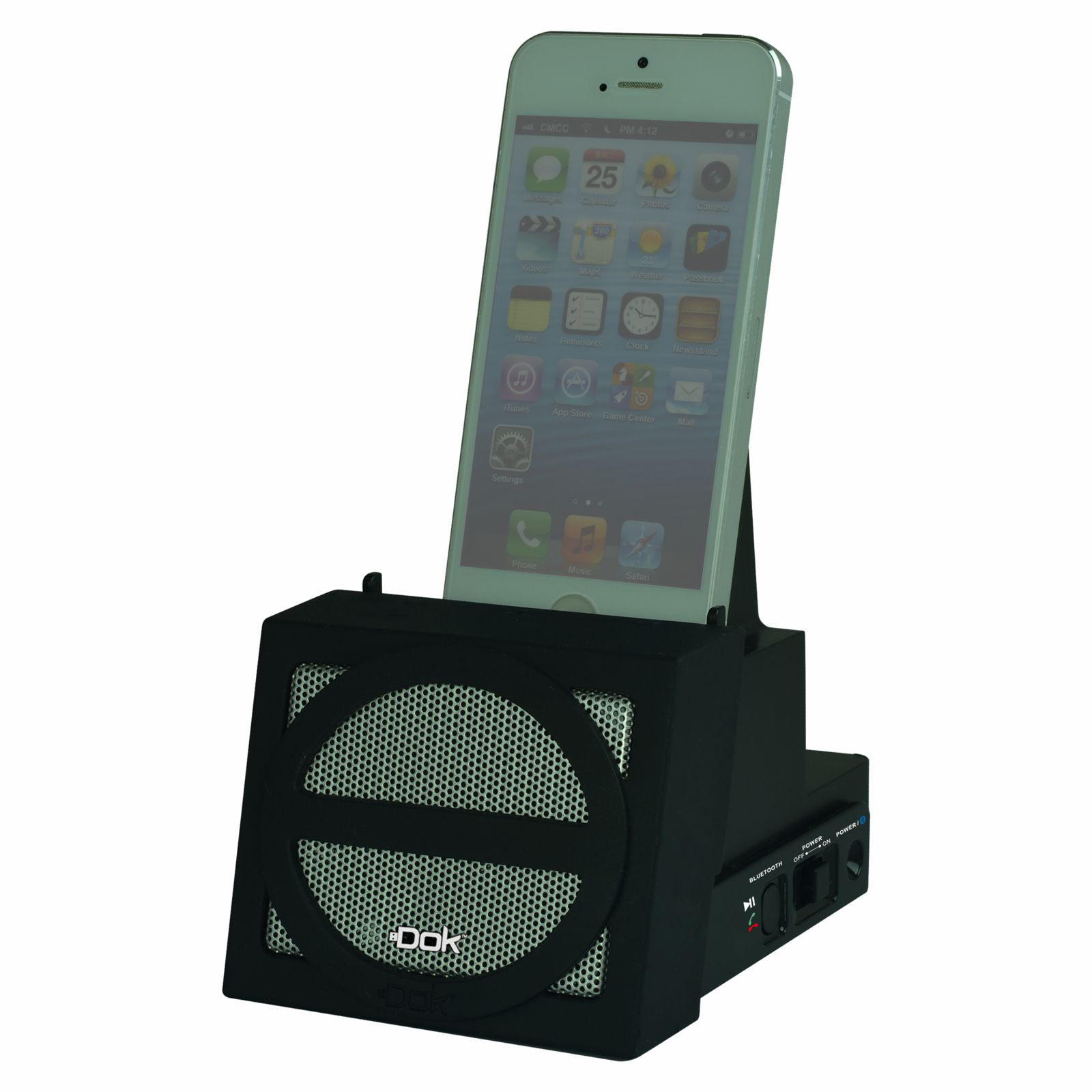 CR12BK - Portable Universal Cradle with Speaker System (Bluetooth), Rechargeable Battery (Black Face)